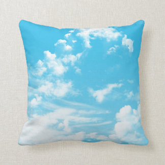 Clouds in the Sky Kids Throw Pillow