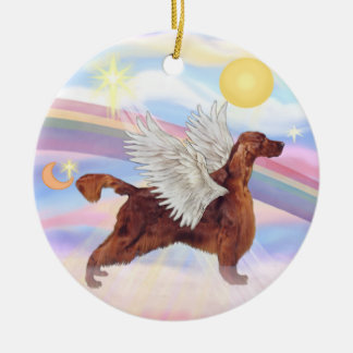 Clouds - Irish Setter Ceramic Ornament