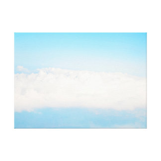 clouds landscape. air view canvas print