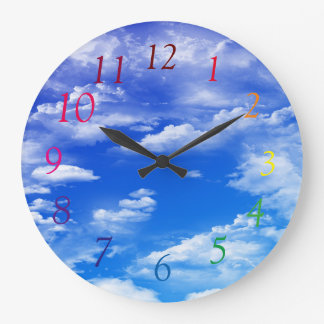 Clouds Large Clock