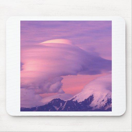 Clouds Lenticular Over Mount Drum Alaska Mouse Pad