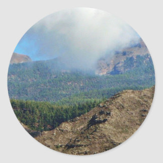 Clouds Mountains And Forests Classic Round Sticker