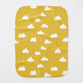 Clouds / Neutral Mustard Yellow / Andrea Lauren Baby Burp Cloths