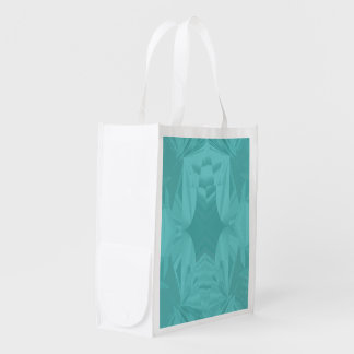 Clouds of Aqua Marine Soft Pastel Abstract Reusable Grocery Bag