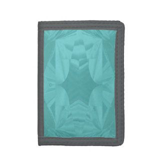 Clouds of Aqua Marine Soft Pastel Abstract Trifold Wallet