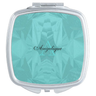 Clouds of Aqua Marine Soft Pastel with Your Name Travel Mirror