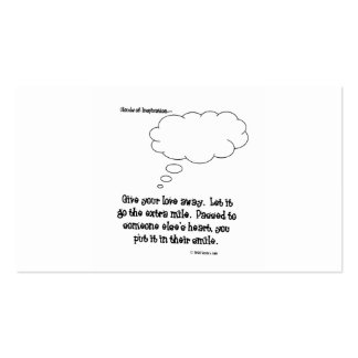 clouds of inspiration give your love away business card