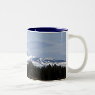 Clouds on Three Fingered Jack Two-Tone Coffee Mug