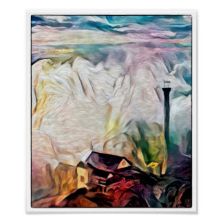 Clouds Over Genting - Watercolour Print