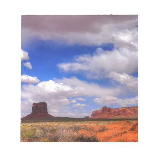 Clouds over Monument Valley, UT Notepad