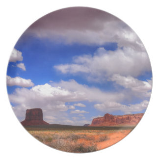 Clouds over Monument Valley, UT Plate
