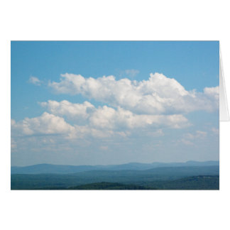 Clouds Over Mountains Card
