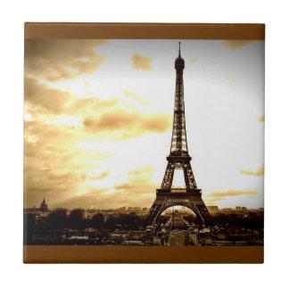 Clouds Over Paris Tile