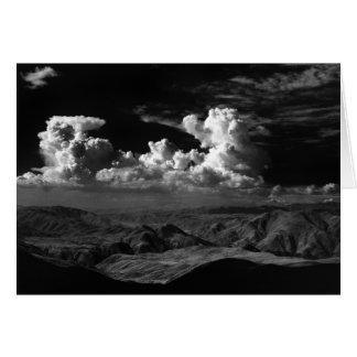 Clouds over the Anza-Borrego Desert, ca. 1966 Card