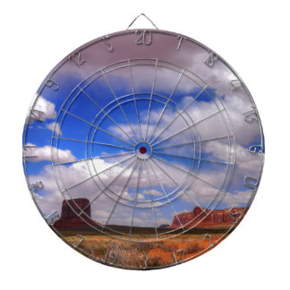 Clouds over the desert dartboard