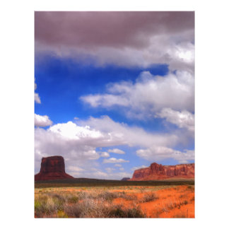 Clouds over the desert letterhead template