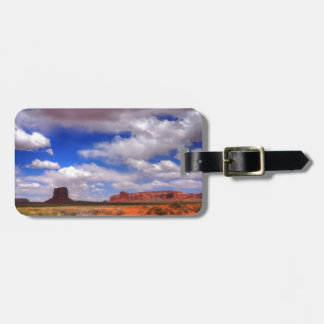 Clouds over the desert luggage tag