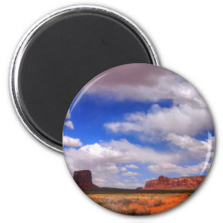 Clouds over the desert magnet