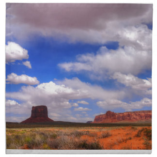 Clouds over the desert napkin