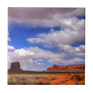Clouds over the desert tile