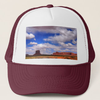 Clouds over the desert trucker hat