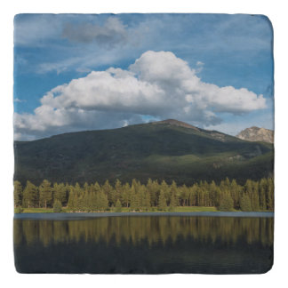 Clouds over the mountain trivet
