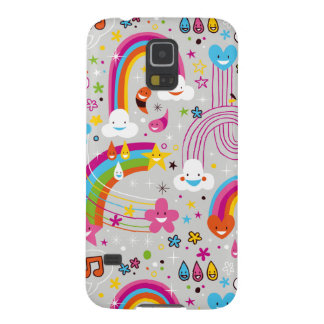 Clouds rainbows rain drops fun pattern cases for galaxy s5