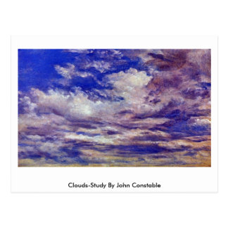 Clouds-Study By John Constable Postcard
