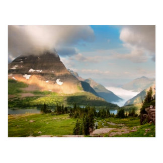Clouds Sweeping Through Mountains Postcard