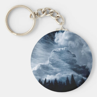 Clouds Temple Keychain