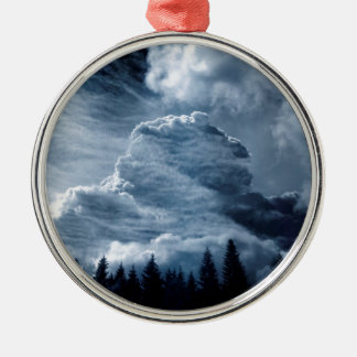 Clouds Temple Metal Ornament