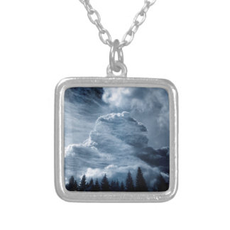 Clouds Temple Silver Plated Necklace