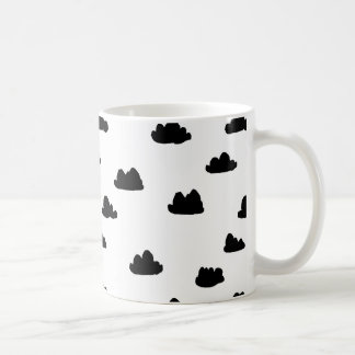 Clouds / White/Black Scandinavian / Andrea Lauren Coffee Mug