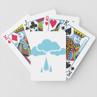 Clouds with drizzle bicycle playing cards