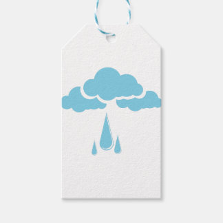 Clouds with drizzle gift tags