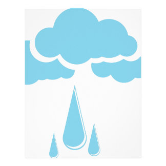 Clouds with drizzle letterhead