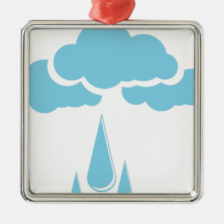 Clouds with drizzle metal ornament