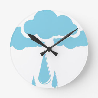 Clouds with drizzle round clock