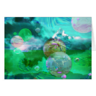Clouds with Spheres Card