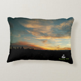 Cloudscape at Sunrise and Sunset Accent Pillow