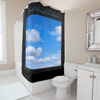 Cloudscape Blue Sky shower curtain