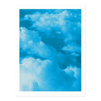 Cloudscape photo painting postcard