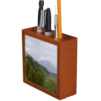 Cloudy At Denali Desk Organizer