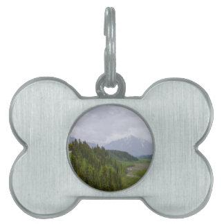 Cloudy At Denali Pet ID Tags