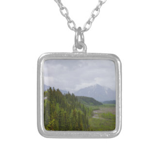 Cloudy At Denali Silver Plated Necklace