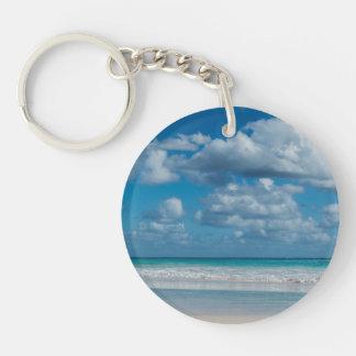 Cloudy Beach Keychain