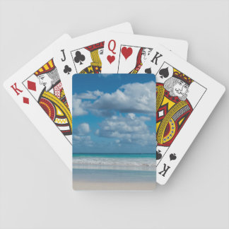 Cloudy Beach Waterline Playing Cards