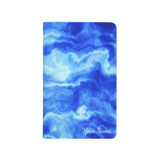 Cloudy Blue Abstract Waves Journal