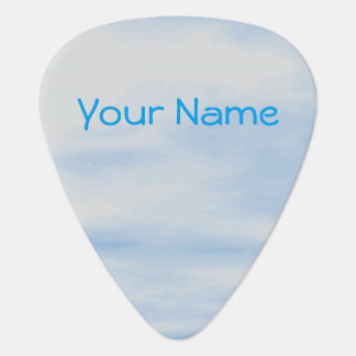 Cloudy Blue Sky Guitar Pick Personalized Name