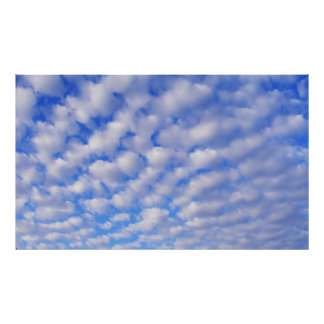 Cloudy Blue Sky Poster